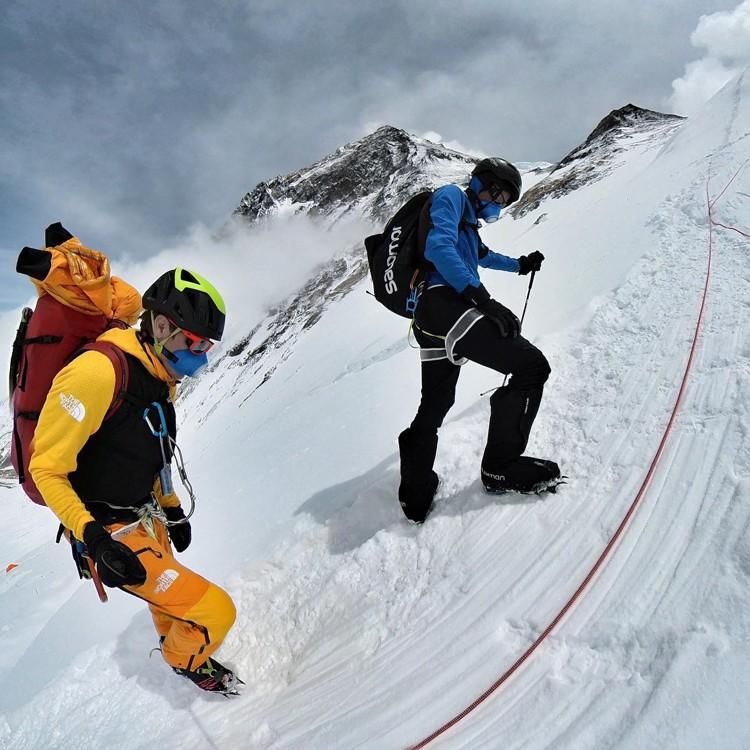 Kilian Jornet y David Goettler, ascensiones alrededor de Phreiche. Foto: Kilian Jornet