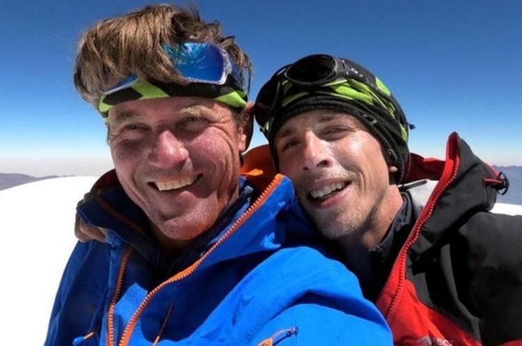 Marek Holecek y Radoslav Groh, salvados en el Baruntse. Foto: Holecek