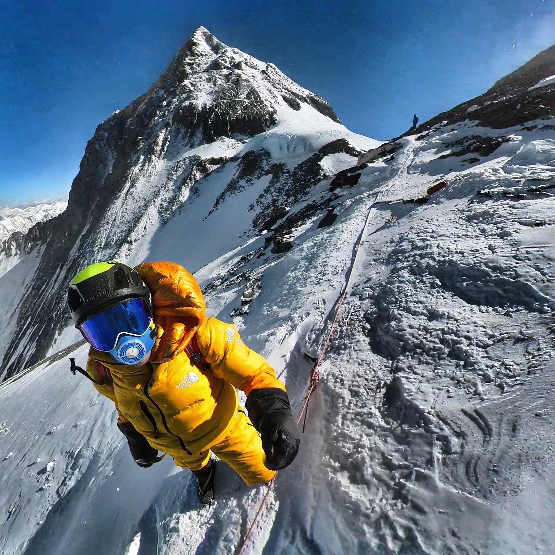 David Goettler, bajo el Collado Sur del Everest. Foto: FB David Goettler