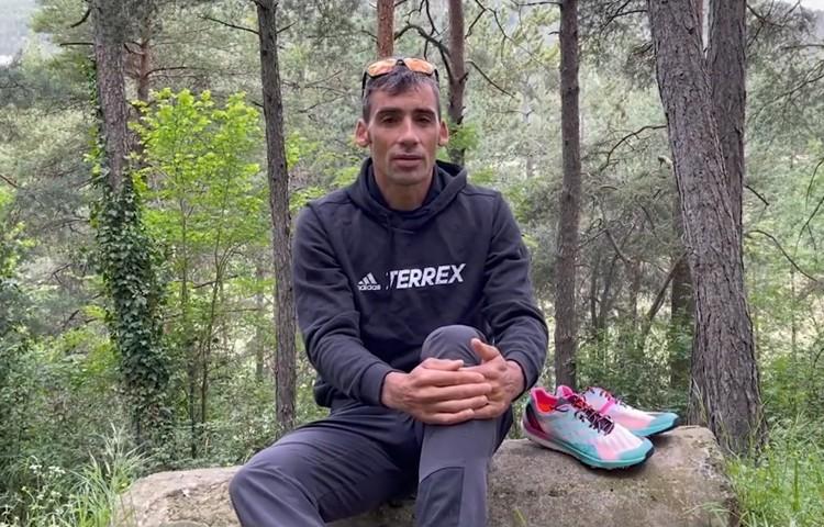Luis Alberto Hernando prepara el FKT Benasque-Aneto-Benasque. Foto: Barrabes/Adidas