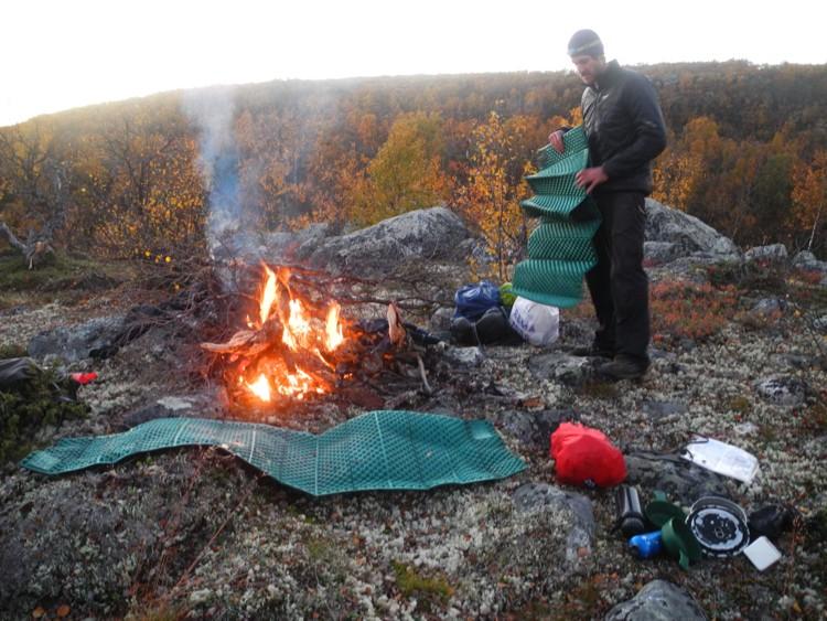 Hoguera en Laponia. Foto: José Mijares