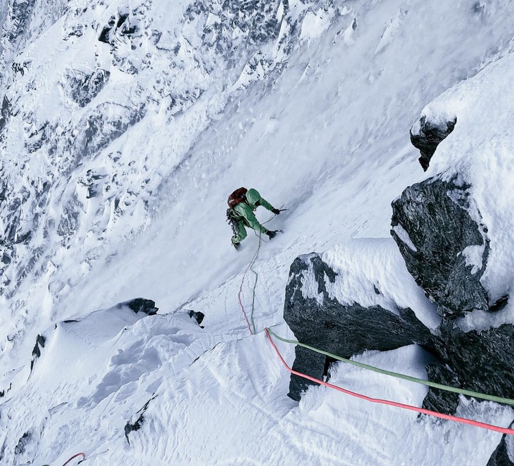Simon Gliet y Roger Schaeli en la norte del Matterhorn. Foto: FB Roger Schaeli