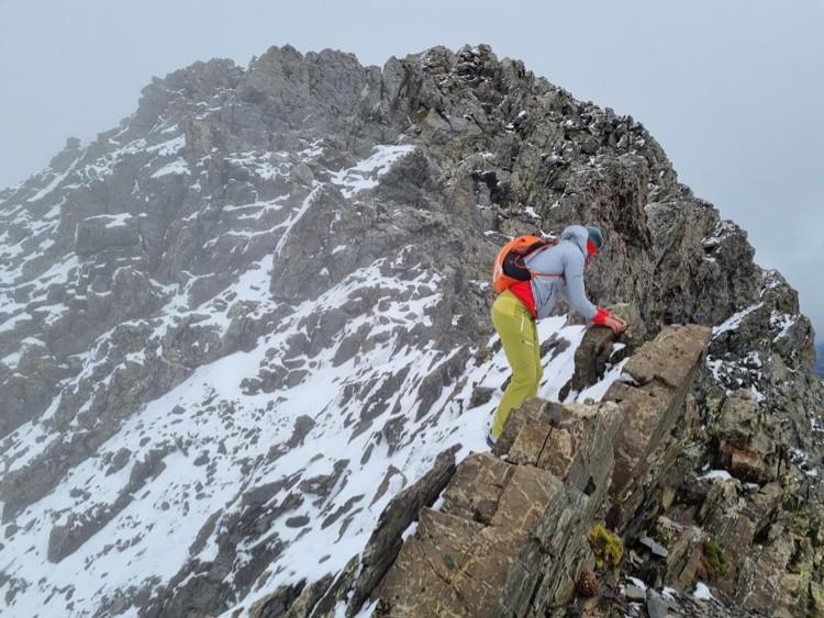 Tamara Lunger en el Pico de la Munia. Foto: Tamara Lunger