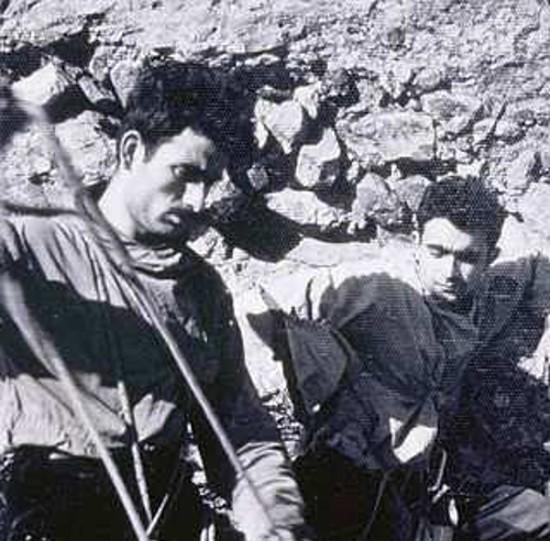 Rabadá y Navarro, a pie de vía en el Mallo Firé.