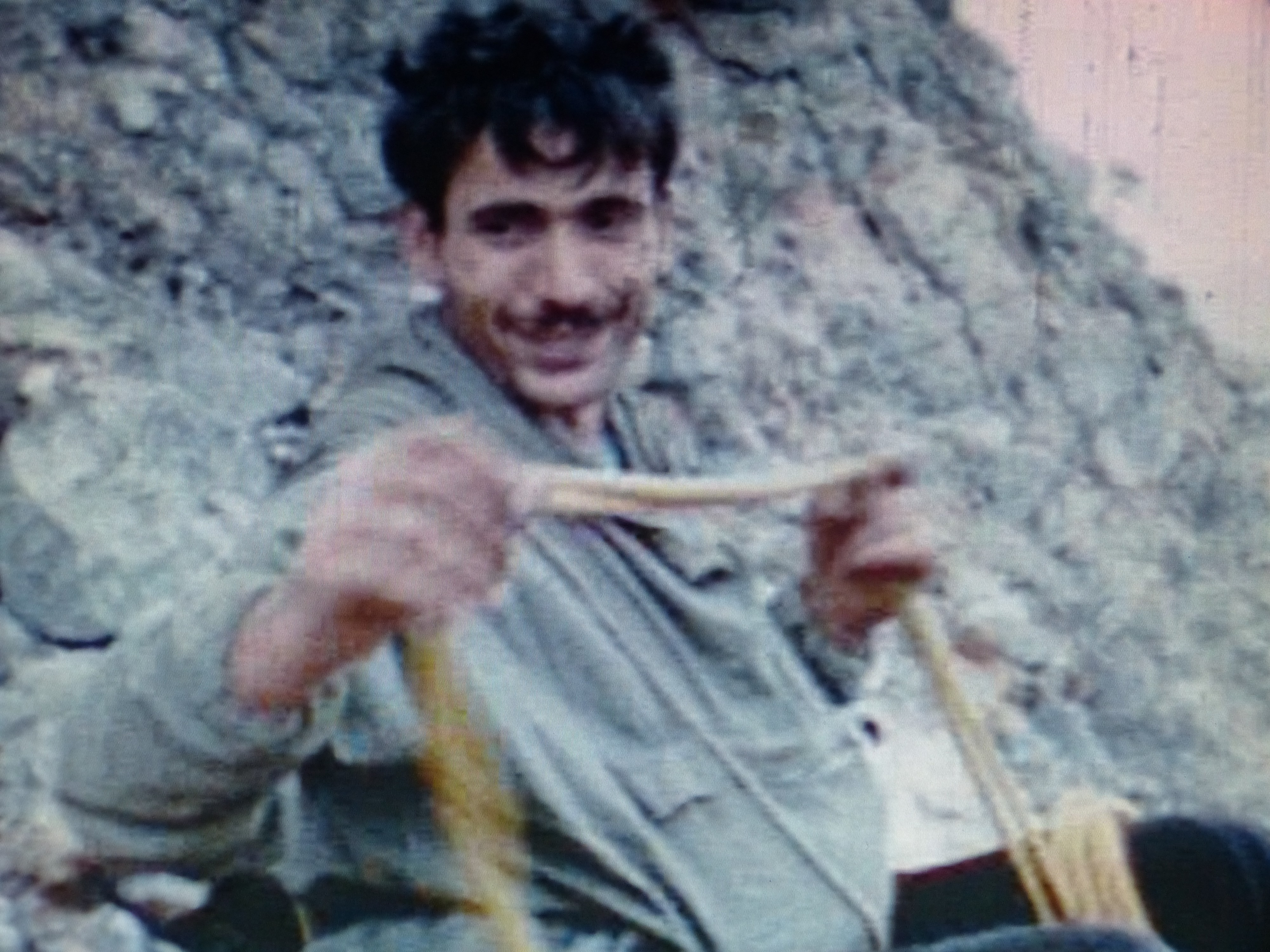 Rabadá, en la cima del Firé tras la escalada