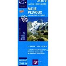 Ed. Ign France Mapa Meije Pelvoux P.Ecrins
