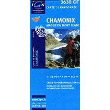 Ed. Ign France Mapa Chamonix Mont Blanc
