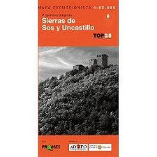 Ed. Prames Mapa Sierra Sos Uncastillo 1:25000