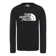 The North Face Y Easy L/S Tee Tnf Black/Tnf White