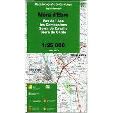 Icc (catalunya) Mapa Mora d'Ebre 1:25.000