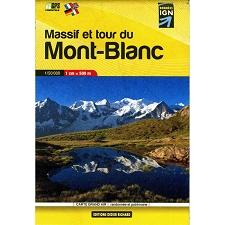 Ed. Didier Richard Mapa Poche Massif Tour du Mont Blanc 1:50000