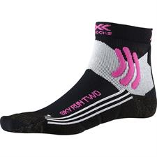Xsocks Run Sky Run Two W Black Melange