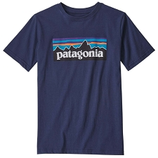 Patagonia Boys P-6 Logo Organic Cotton T-Shirt