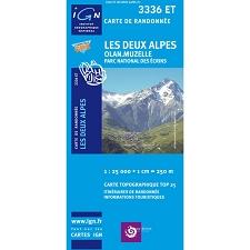 Ed. Ign France Mapa Les Deux Alpes. Olan, Muzelle
