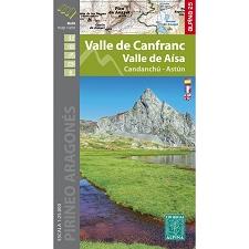 Ed. Alpina Mapa Valle Canfranc Aísa 1:25000