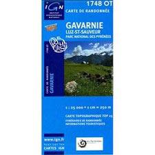 Ed. Ign France Map of Gavarnie, Luz St. Saveur