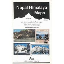 Ed. Leomann Maps Pu. Mapa Nepal Himalaya 2-Mid-West Nepal