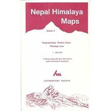 Ed. Leomann Maps Pu. Mapa Nepal Himalaya 3-Kanjiroba East