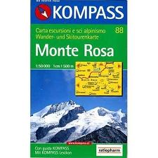 Ed. Kompass Map Monte Rosa 1:50000