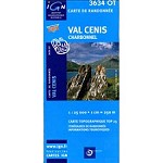 Ed. Ign France Map of Val Cenis Charbonel