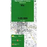 Icc (catalunya) Mapa Vic 1:25000