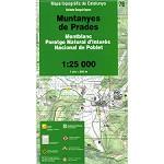 Icc (catalunya) Mapa Muntanyes De Prades 1:25000