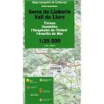 Icc (catalunya) Mapa Serra Llaberia 1:25000
