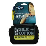 Sea To Summit SILK/COTTON TRAVEL LINER W/PILLOW SLIP