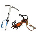 Varios Piolet Neve + Crampons Ice Classic