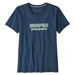 Patagonia Pastel P-6 Logo Organic Crew Tee W