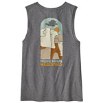 Patagonia Save the Splitters Organic Muscle Tee W