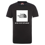 The North Face Y Box S/S Tee Tnf Black/Tnf White