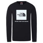 The North Face Y New L/S Box Logo Tee