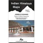 Ed. Leomann Maps Pu. Map 9 of  Indian Himalaya - Jammu & Kashmir