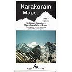 Ed. Leomann Maps Pu. Map 3 of Karakoram - k2, Baltoro, Gasherbrum