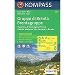 Ed. Kompass Map Gruppo Di Brenta 1:25000