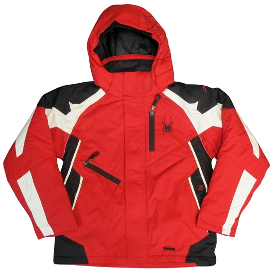 Spyder Boy's Leader Jacket - Rojo / Blanco / Negro