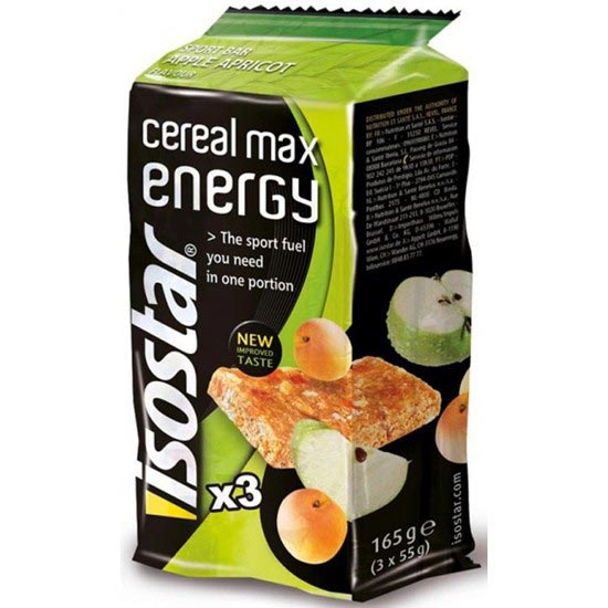 Isostar 3 Barres Cereal Max Energy Pomme-Abricot -