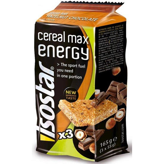 Isostar 3 Barres Cereal Max energy Noisette/Chocolat -