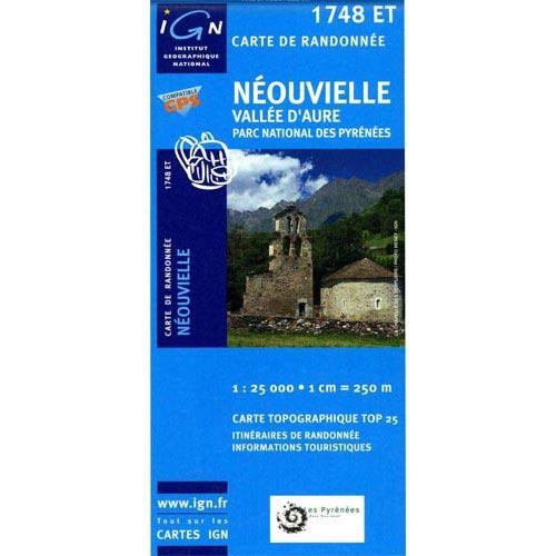Ed. Ign France Map of Neouvielle V D'Aure -