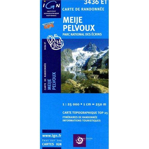Ed. Ign France Mapa Meije Pelvoux P.Ecrins -