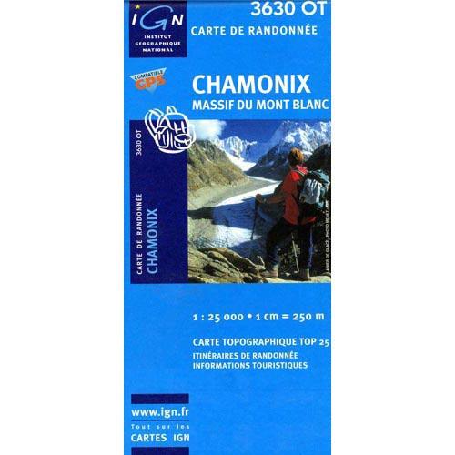 Ed. Ign France Mapa Chamonix Mont Blanc -