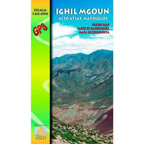 Ed. Piolet Mapa  Ighil Mgoun. Alto Atlas. Marruecos -