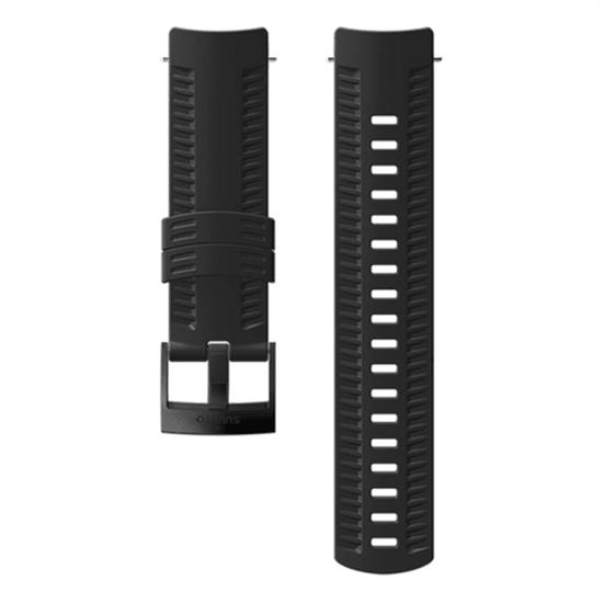 Suunto 24 Mm Ath 1 Silicon Black Steel Strap M -