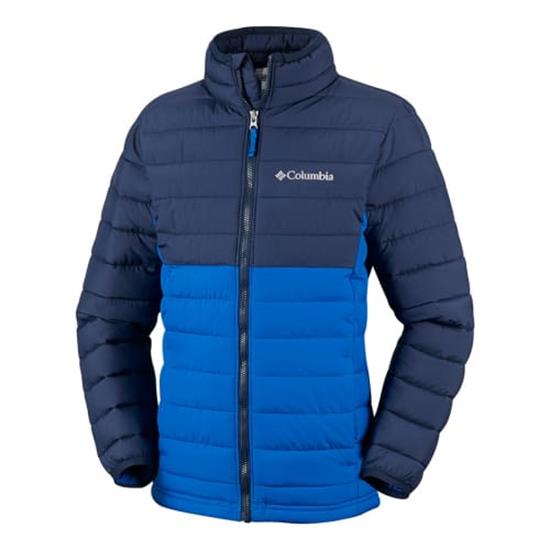 Columbia Powder Lite Jacket Boy - Super Blue/Collegial