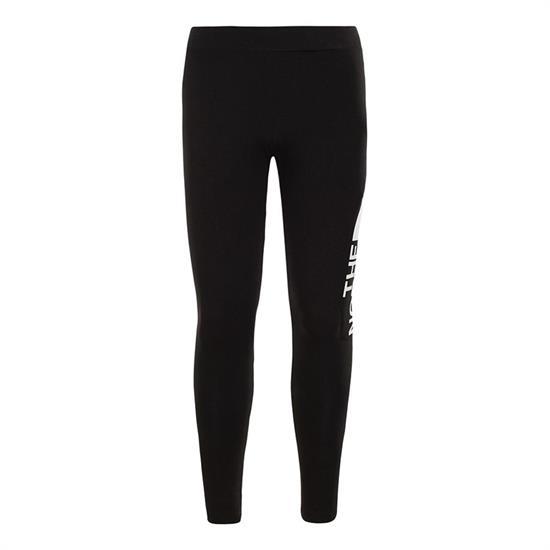 The North Face Cotton Blend Legging Big Logo Girls - Black/White