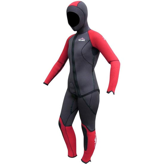 Seland Mulhacen  Women´s Wetsuit - Grey/Red
