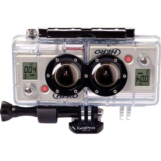 Go Pro 3D Double Housing with Synchronized Cable -