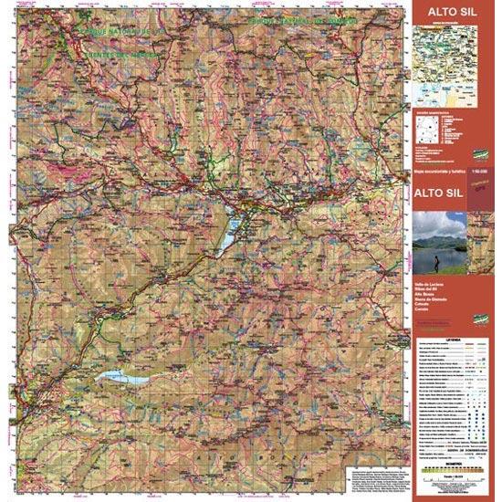 Ed. Calecha Alto Sil  Hiking Map 1:50000 - Detail Foto