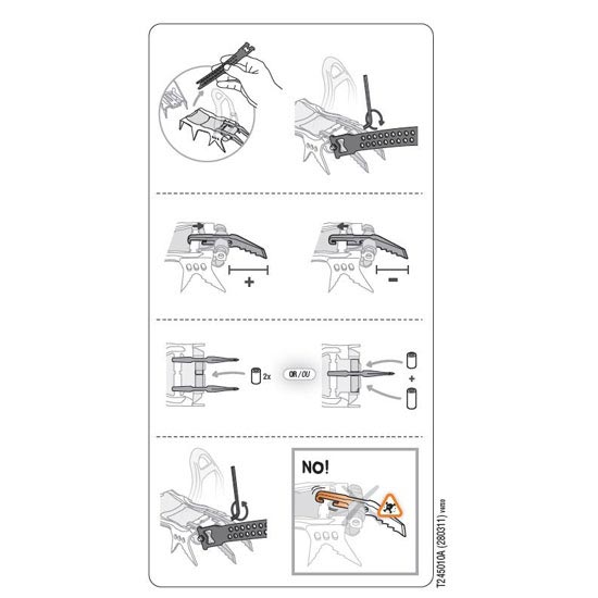 Petzl Lynx Points screw Kit - Photo of detail